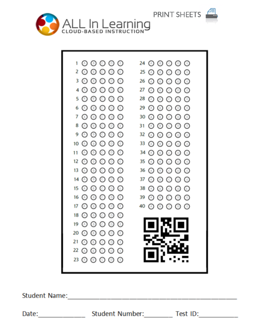 picture about Printable Scantron Form titled Bubble Sheet for Scan It - All Inside Finding out